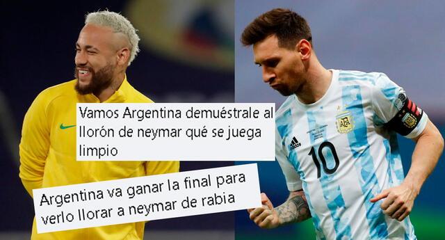 Lionel Messi y Neymar se ven las caras en la gran final de la Copa América 2021.