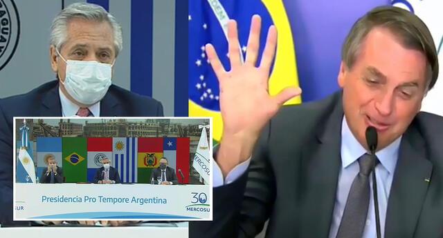 Presidentes de Brasil y Argentina se vieron en la previa de la final de Copa América 2021.