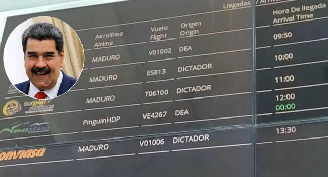 Peculiar mensaje para Nicolás Maduro se hizo viral en las redes sociales.