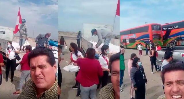 ofrecen dinero, comida y viaje en bus para que marchen a favor de Keiko Fujimori