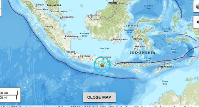 El fuerte sismo se produjo a 258 km al noreste de la ciudad de Manado, en el norte de Célebes.