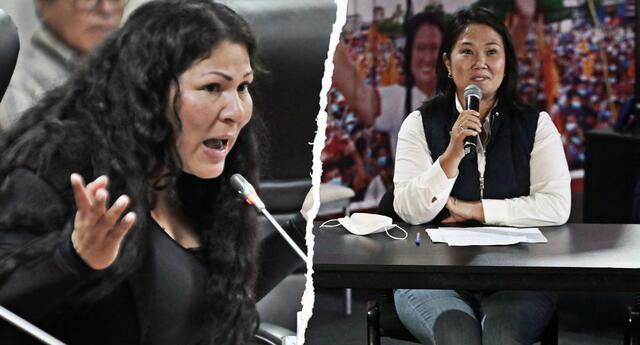 Yesenia Ponce criticó acciones de Keiko Fujimori