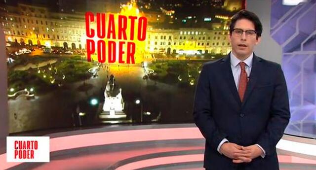 Sebastián Salazar feliz con la sintonía de 'Cuarto Poder'.