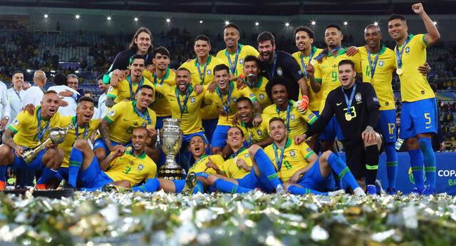 Brasil es el actual campeón de Copa América, título que consiguió el 2019.