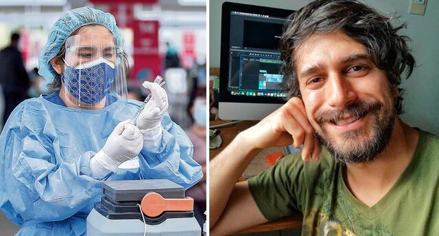 Sebastián Rubio exhorta al Minsa poder inocularse en la vacunatón.