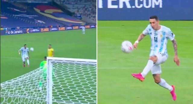 Di María abre el marcador en el Argentina - Brasil por la final de la Copa América 2021.