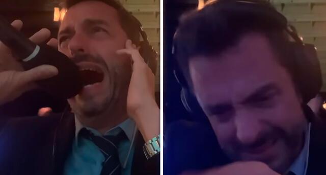 Pablo Giralt no se contuvo y explotó en lágrimas por ver a Argentina campeón.