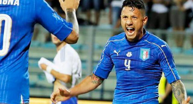 Italianos y peruanos celebraron la victoria del país que vio nacer a Gianluca Lapadula.