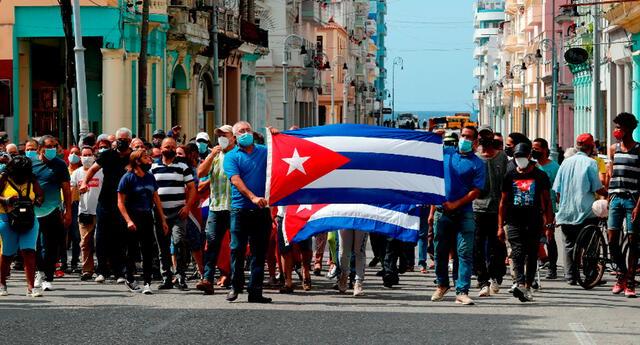 No se realizaba una protesta tan grande desde la muerte de Fidel Castro.