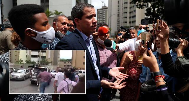 Policías llegaron a casa del opositor Juan Guaidó para detenerlo.