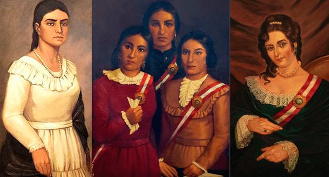 María Parado de Bellido, Las Toledo y Brígida Silva