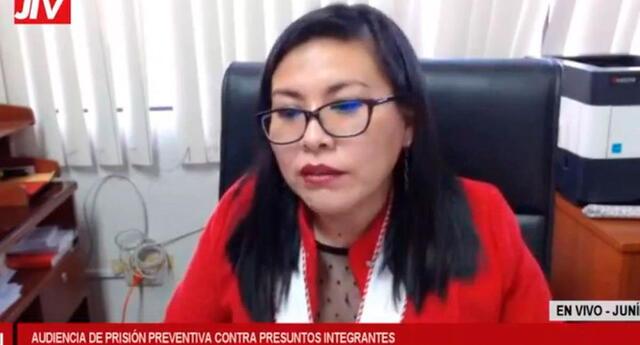La representante del Ministerio Público insistió sobre la existencia de un vínculo político entre Los Dinámicos del Centro con Perú Libre.