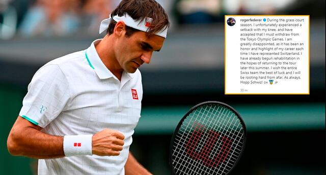 Roger Federer se bajó de los Juegos Olímpicos de Tokyo 2020.