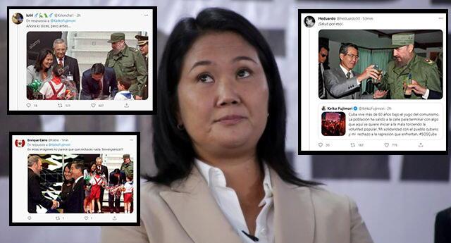 Usuarios reaccionaron ante mensaje de Keiko a favor de Cuba.