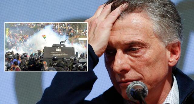 Expresidente Mauricio Macri habría enviado armas a Bolivia.