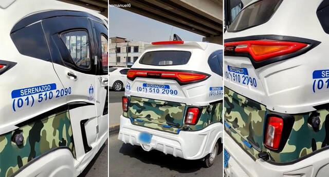 Con todo. Serenos se trasladan en mototaxis para combatir la delincuencia en el distrito.