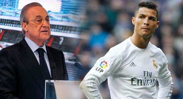 Cristiano Ronaldo recibió duro insulto de su expresidente Florentino Pérez.