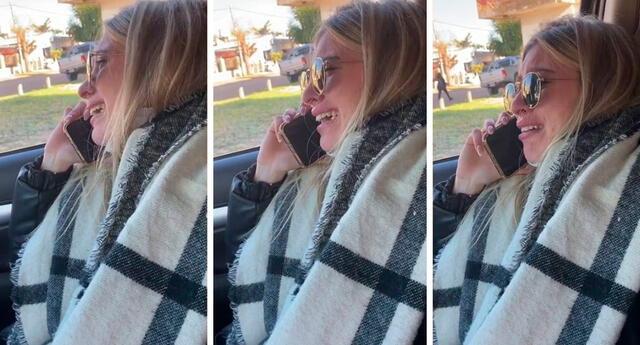 La joven no pudo contener sus lágrimas y llamó a su abuela.