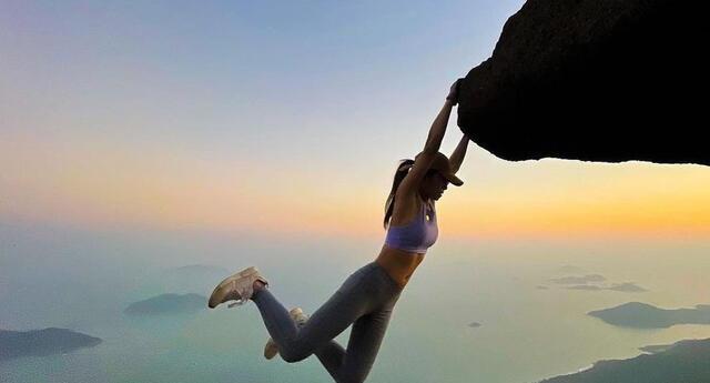 Influencer muere al intentar tomarse una 'selfie' en un acantilado.