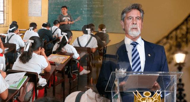 Conoce cuando regresan los escolares a las aulas, según lo anunciado por el presidente Francisco Sagasti
