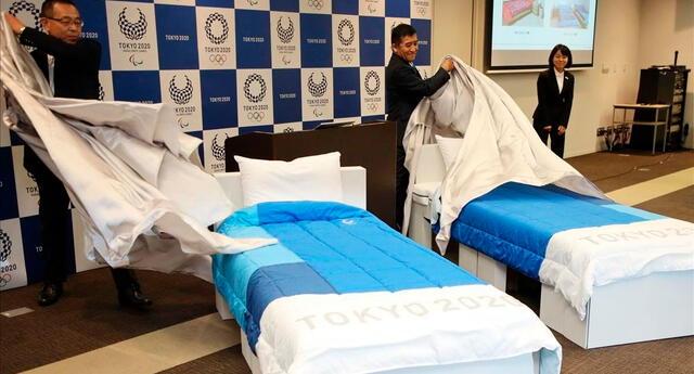 Camas de cartón reciclable serán usadas en la Villa Olímpica de Tokio para los Juegos Olímpicos 2020.
