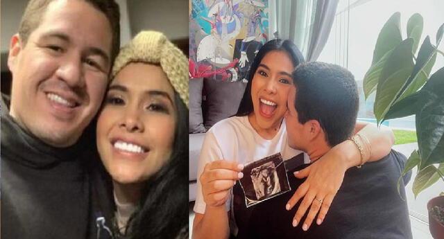 Maricarmen Marín se muestra feliz por la pronta llegada de su bebé.