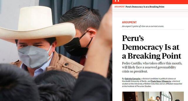 """""""La historia reciente apunta a la ingobernabilidad más que al autoritarismo"""", alertaron en el texto de la revista estadounidense. Foto: composición/El Popular/captura de Foreign Policy"""