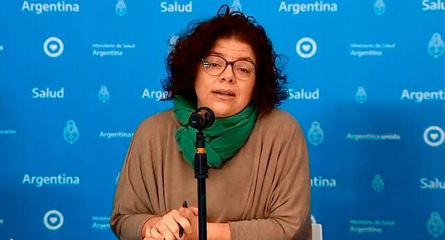 Ministra de Salud de Argentina, Carla Vizzotti.