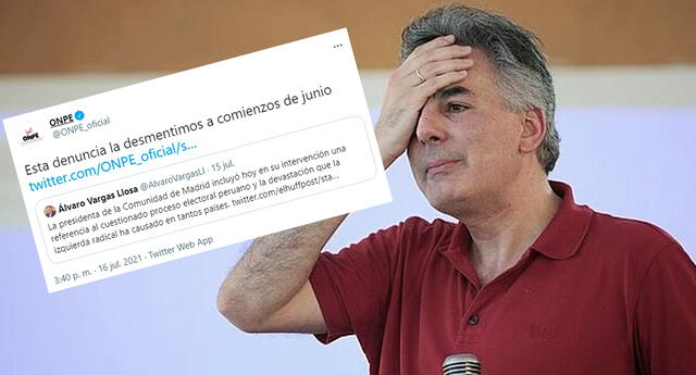 Álvaro Vargas Llosa fue criticado en redes sociales.