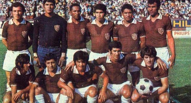 El Defensor Lima de  Breña en año 1972.