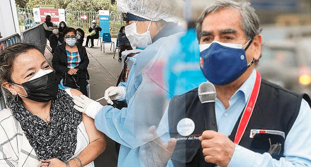 Óscar Ugarte anunció que personas de 40 años podrán vacunarse desde el sábado 24 de julio