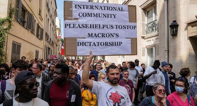 El Ministerio del Interior dijo que 114 mil personas participaron en protestas en todo el país.