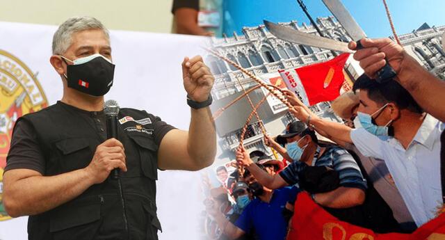 Ministro del Interior rechazó el uso del machete en marchas.