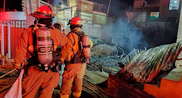 Incendio deja en la calle a familia en Moquegua