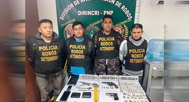 Delincuentes fueron detenidos por agentes de la Dirincri.