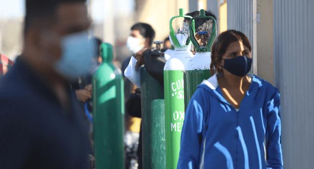Colas disminuyen en los centros de venta de oxígeno medicinal.