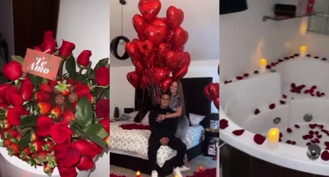 Jesús Barco decoró la habitación de hotel que ambos compartían, y Melissa Klug mostró en redes sociales lo emocionada que estaba con el gesto.