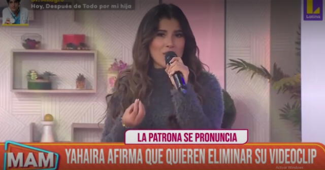 Yahaira Plasencia se pronuncia sobre su posible baja del videoclip 'Dime'.