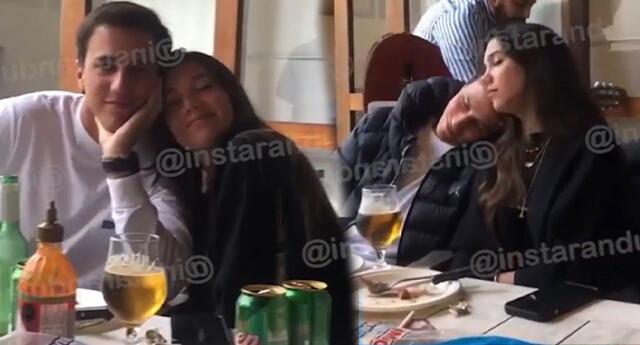 Mafer Neyra almuerza con su familia y se invitado especial esta su nuevo novio.