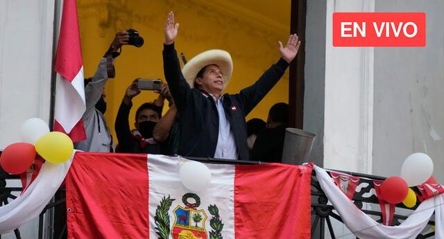 Pedro Castillo fue proclamado como Presidente del Perú.