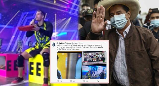 América Televisión no transmite proclamación de Castillo y continúa con reality.