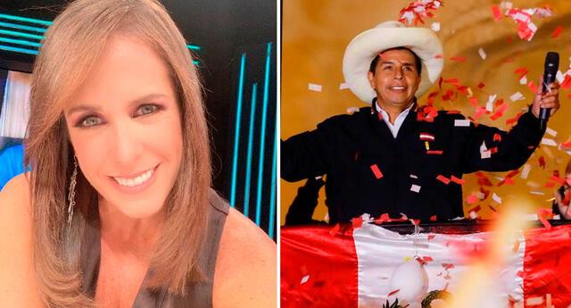 Pamela Vértiz apoyó a Pedro Castillo tras proclamación.