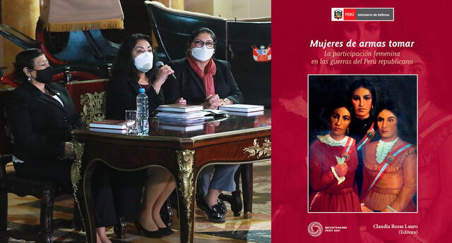"""""""La publicación busca convertirse en un aporte para que se reconozca la importancia del rol de las mujeres en sentar las bases y la defensa del Perú"""