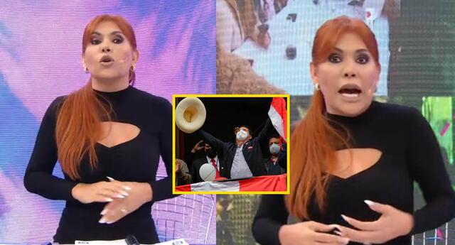 Magaly Medina usa extraño atuendo tras proclamación de Pedro Castillo: