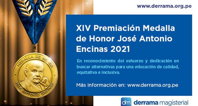 Medalla de Honor José Antonio Encinas. Foto: Derrama Magisterial