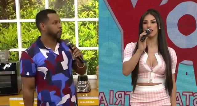 Edson Dávila aprovechó la presencia de Allison Pastor en el set de América Hoy para advertirle sobre los diferentes tipos de persona en la TV.