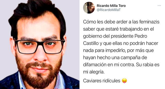 Ricardo Milla Toro en Twitter.