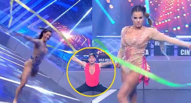 Esto es guerra: Chicos realitys sorprenden con su talento para la gimnasia rítmica.