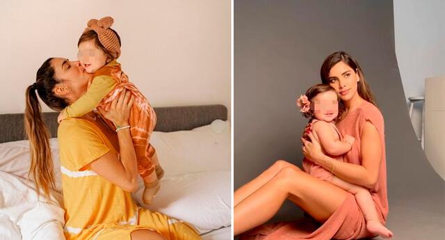 Korina Rivadeneira sorprendida con el desenvolvimiento de su hija.