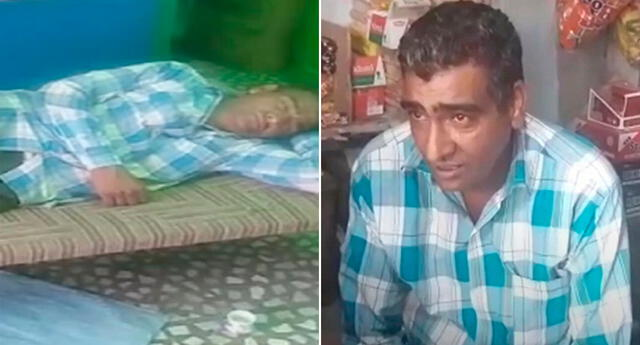 Purkharam, de 42 años, puede dormir 25 días ininterrumpidos.